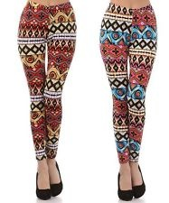 PLUS SIZE Tribal Aztec Print Pattern Skinny Spandex Legging Tights/Pants