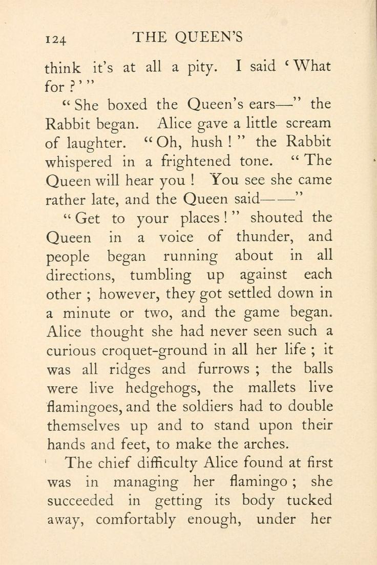 Alice In Wonderland Online Text