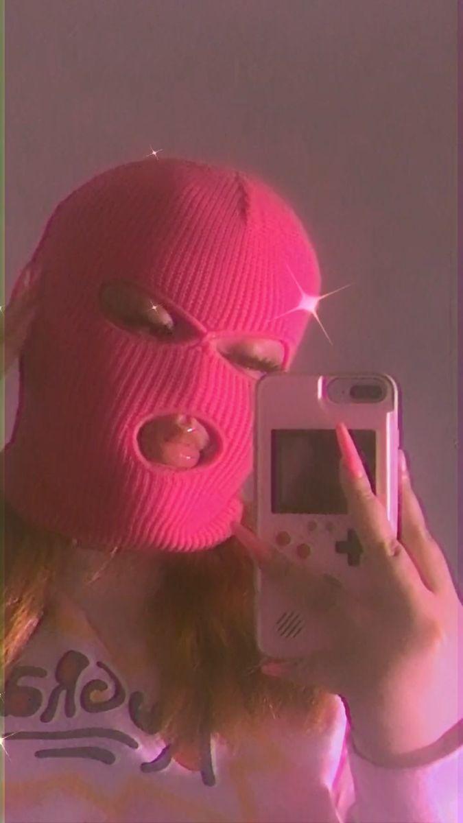 Gangster Girl Baddie Pink Ski Mask Aesthetic : gangster, baddie, aesthetic, Mask💗, (Instagram:@itsmaliaa), Iphone, Wallpaper, Girly,, Aesthetic,, Aesthetic