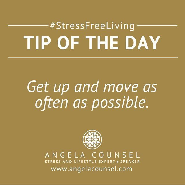 Your body was designed to move everyday.  It is said that 'sitting is the new smoking' with many women spending too much time sitting at their desks and not enough time moving around.  Include movement in your day by using a standing desk going for regular walks or if you have tie why not try a relaxing yoga class. #stressfreeliving #angelacounsel #secretmumsbusiness