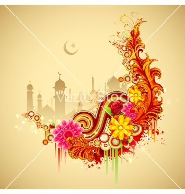 Eid mubarak happy eid background vector by vectomart on VectorStock®