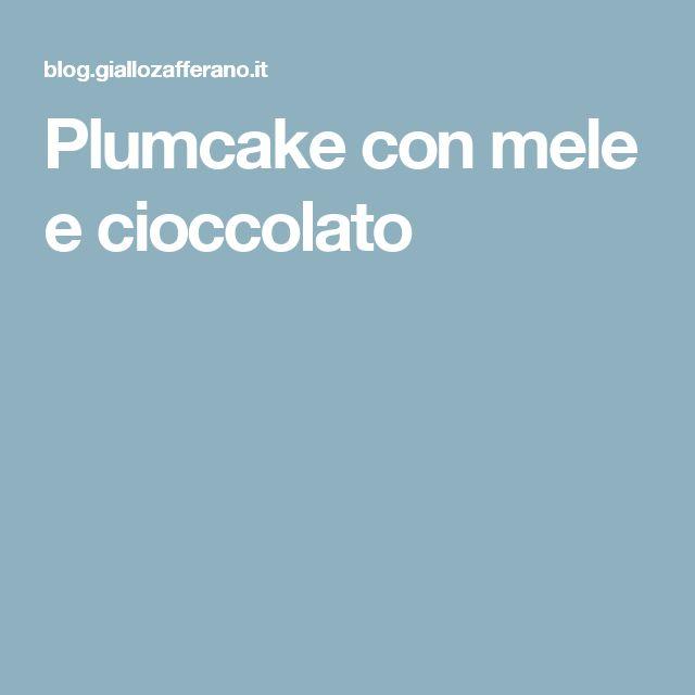 Plumcake con mele e cioccolato