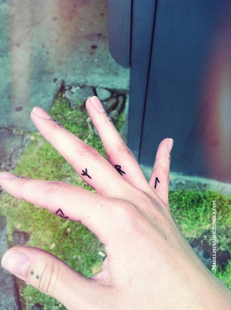 Rune tattoos