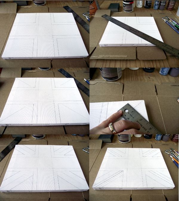 how to draw the union jack on canvas