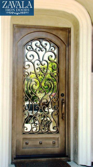 Hierro Forjado puertas de entrada, puerta de una sola puerta SD38003 3x8, los tamaños de encargo disponibles in Casa y jardín, Artículos para mejoras del hogar, Construcción y herramientas | eBay