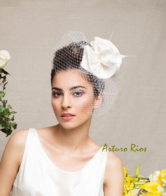 Bandeau de mariée Ivoire mariage chapeau par ArturoRiosBridal
