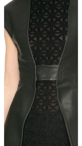 Gareth Pugh Идеально скроенный кожаный жилет