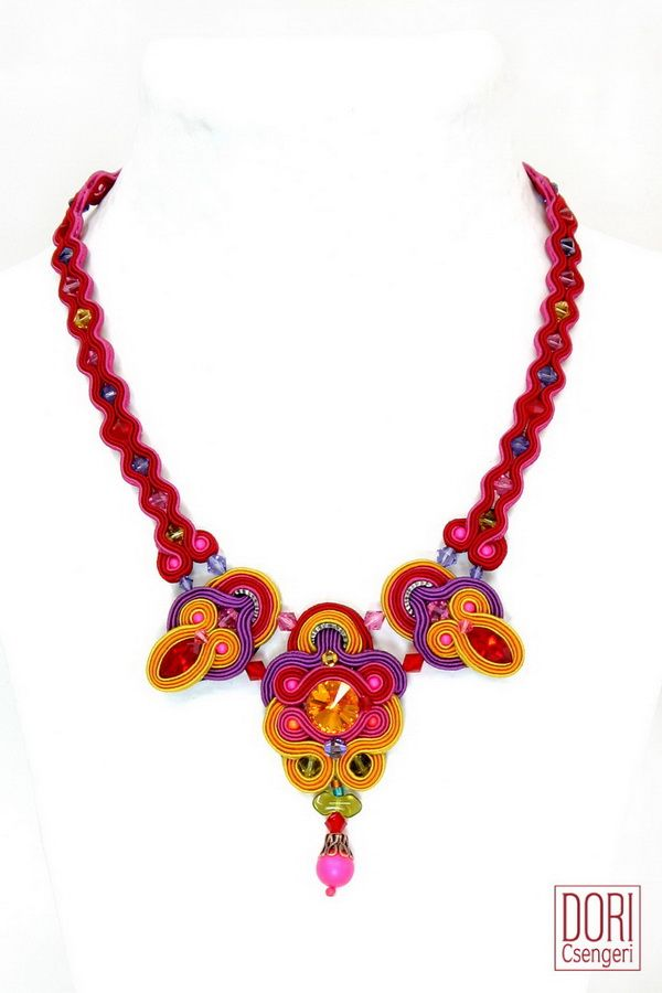 Celebration of Colors with Estival Necklace. #doricsengeri #necklace #colors #fashion #pink