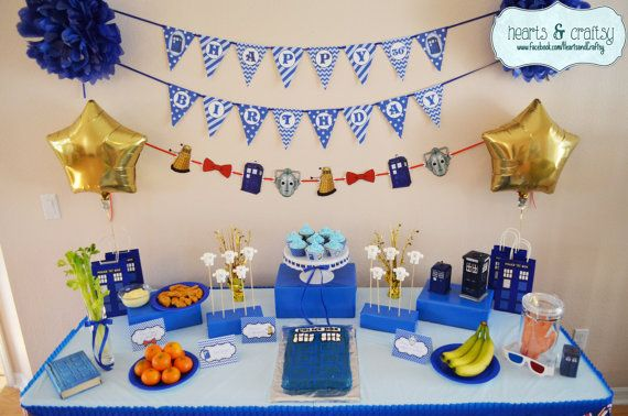 Doctor Who Party Eleventh Doctor inspired by HeartsandCraftsy