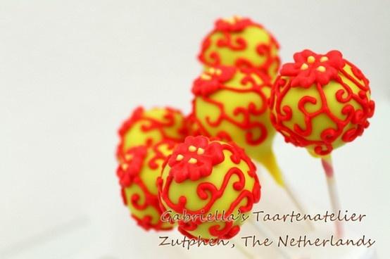 Red cake pops