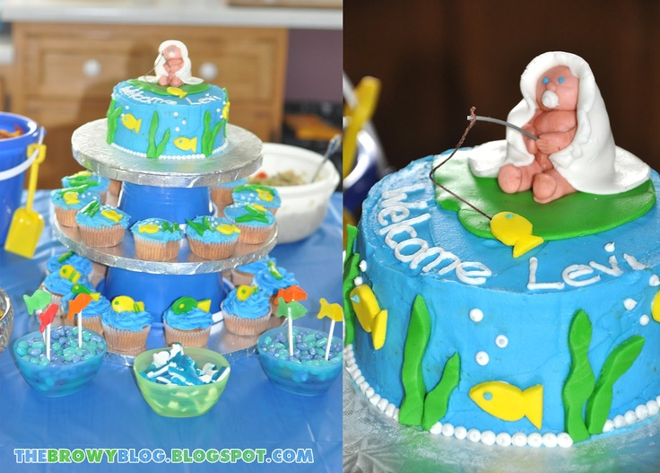 129 best boy nursery baby shower theme ideas images on for Fishing baby shower