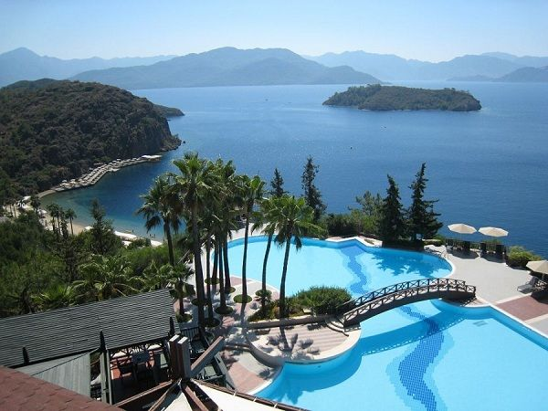 One of Turkey's most popular seaside resorts is surely Marmaris. It is a picture-perfect setting of pine-clad mountains, sandy white beaches, turquoise waters and historic architecture. Located along the Turkish Riviera in southwest Turkey, this stunning cruise port is a tourist paradise with exceptional sightseeing opportunities, water sports, adventure, fantastic dining and buzzing nightlife.