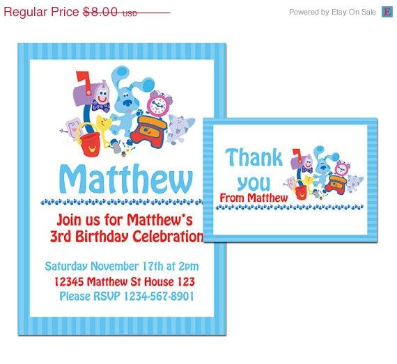 48 best Blues Clues Birthday Theme images – Blues Clues Birthday Card
