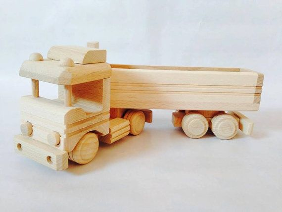 Wooden Truck Toy by FriendsOfForest on Etsy