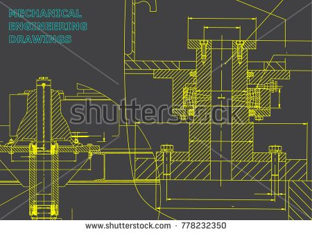 Mechanical engineering. Technical illustration. Backgrounds of engineering subjects. Technical design. Instrument making. Cover. Gray #bubushonok #art #bubushonokart #design #vector #shutterstock #technical #engineering #drawing #blueprint  #technology #mechanism #draw #industry #construction #cad