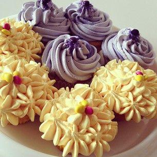 Zinacolada - Homemade Cakes Nottingham Pinacolada (yellow) Vanilla and lavender (lilac)  With fresh flavoured cream