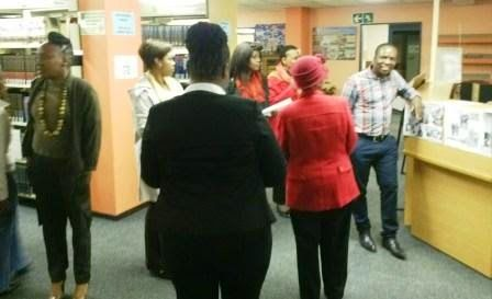 LIASA EXCO and branch members visiting specialist libraries, including the SABC Media Libraries