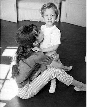 Audrey and Sean, at home in Burgenstock, 1962.   Photo by Pierluigi, Copyright © Pierluigi Praturlon/Reporters Associati.