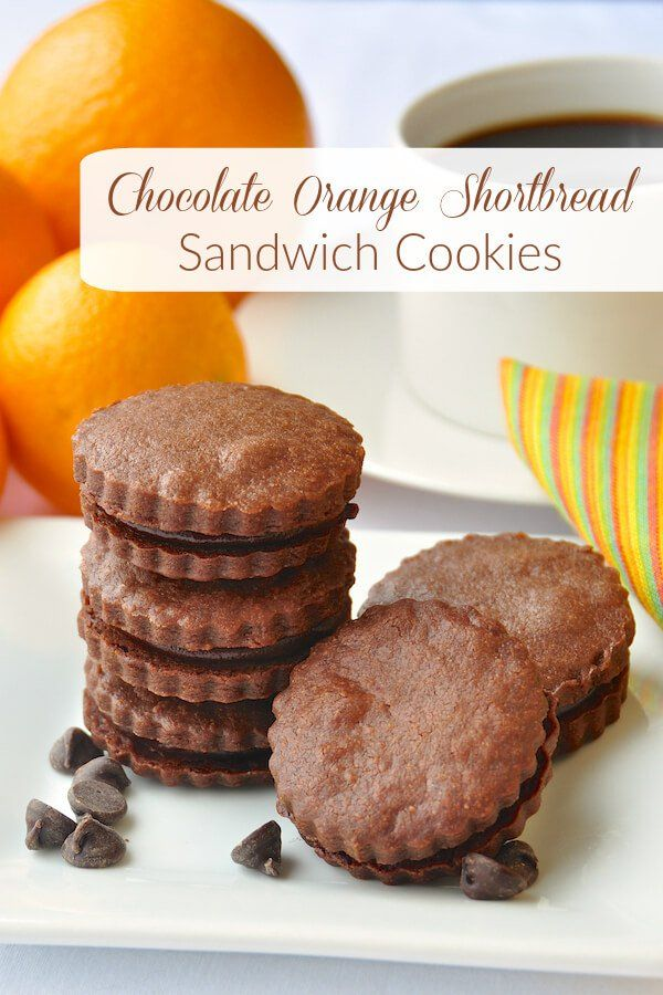 Shortbread Sandwich Cookies - Buttery chocolate shortbread cookies ...