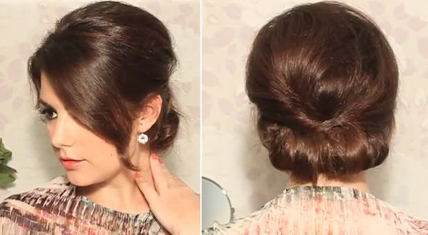 chignon tutorial by Secrets Des Coquettes - this would be so beautiful with an embellishment tucked into the middle or the side. so lovely.