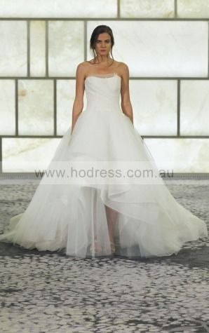 Zipper Ball Gown Natural Strapless Wedding Dresses hpcf1001--Hodress