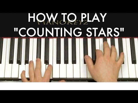 How to Play Counting Stars by OneRepublic on Piano - http://blog.pianoforbeginners.net/how-to-play-a-piano/play-counting-stars-onerepublic-piano