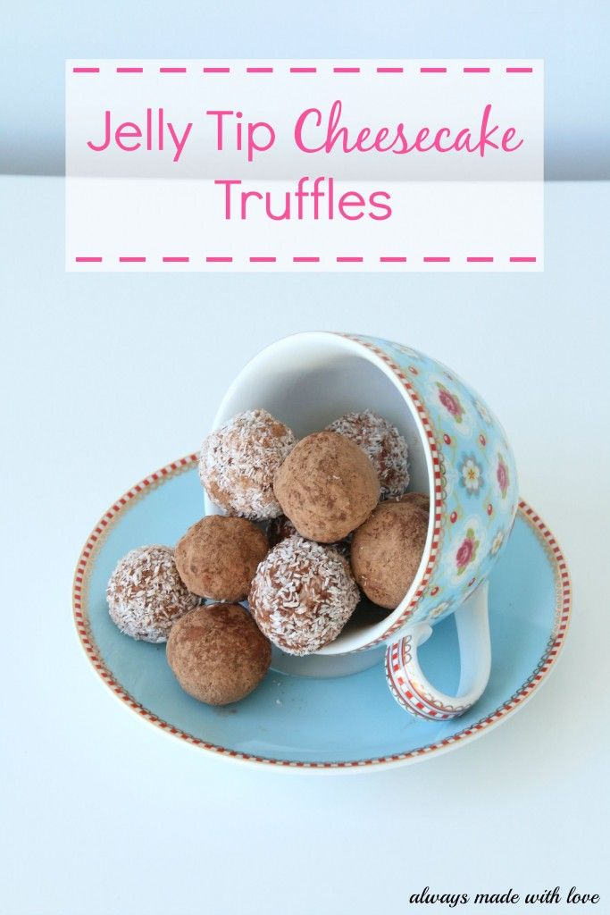 Jelly Tip Cheesecake Truffles - Always Made With Love
