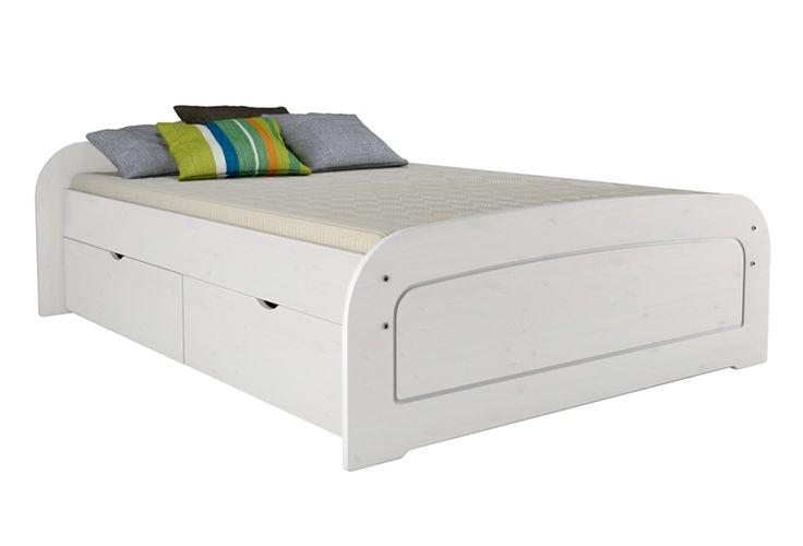 Das süße Bett RONJA 160x200 mit 2 Schubladenset in weiß