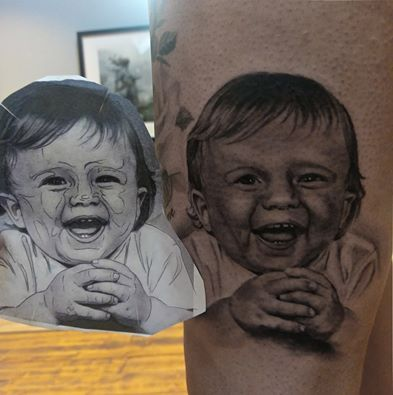 #tattoo #baby #smile #portrait #realistic #toddler