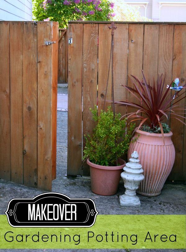 planting area makeover | Potting Area | TodaysCreativeBlog.net