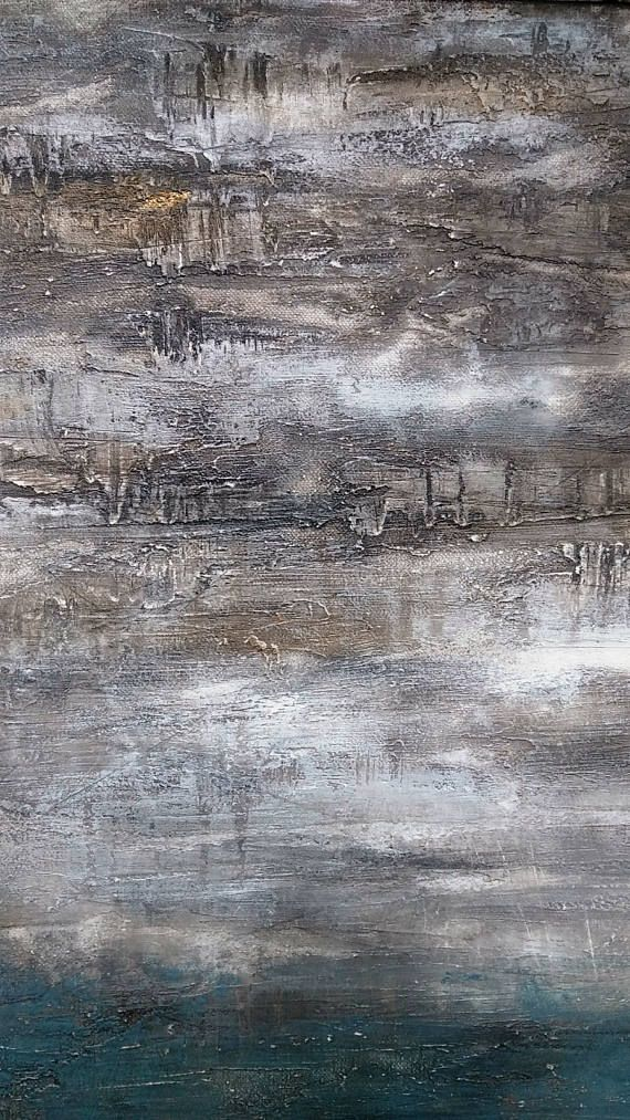 Original Abstract Texture Painting 24 x 30 Amy Neal Canvas