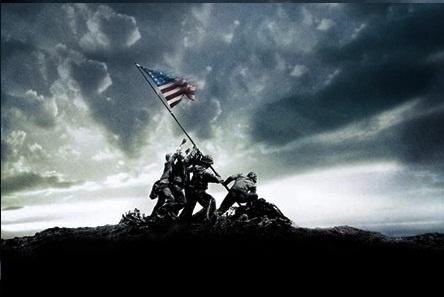 memorial day flag raising and lowering