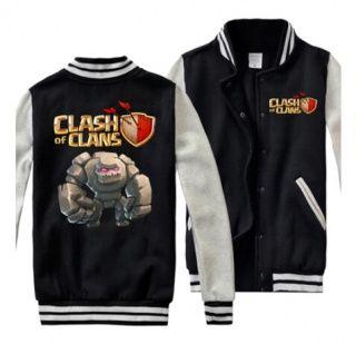 COC game plus size sweatshirts for men Clash of Clans Golem baseball jackets