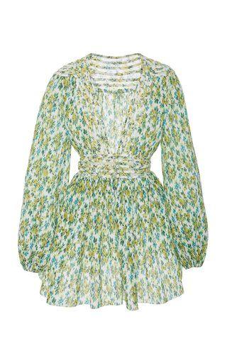 3e908fac7cf3 Golden Plisse Mini Dress by Zimmermann | Dresses | Dresses, Fashion ...