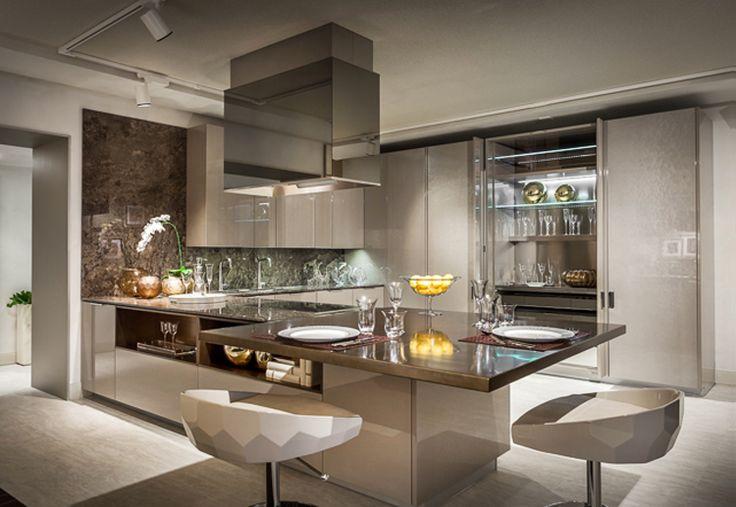 Cozinha moderna decorada na cor fendi da Fendi! Confira todos os detalhes!