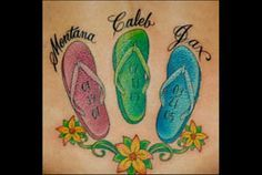 flip flop tattoo designs - Google Search