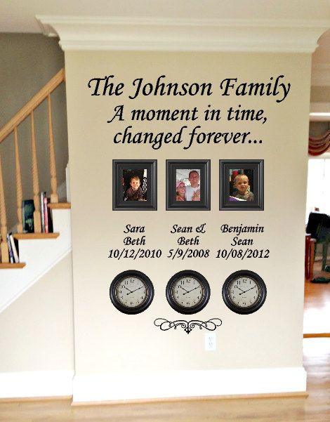Time Stood Still Family Clock Wall Decal by GiftQueenGifts on Etsy