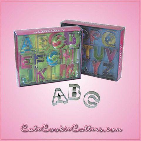Alphabet Cookie Cutter Set - Deluxe