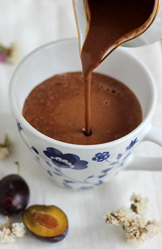 Śliwkowa czekolada do picia