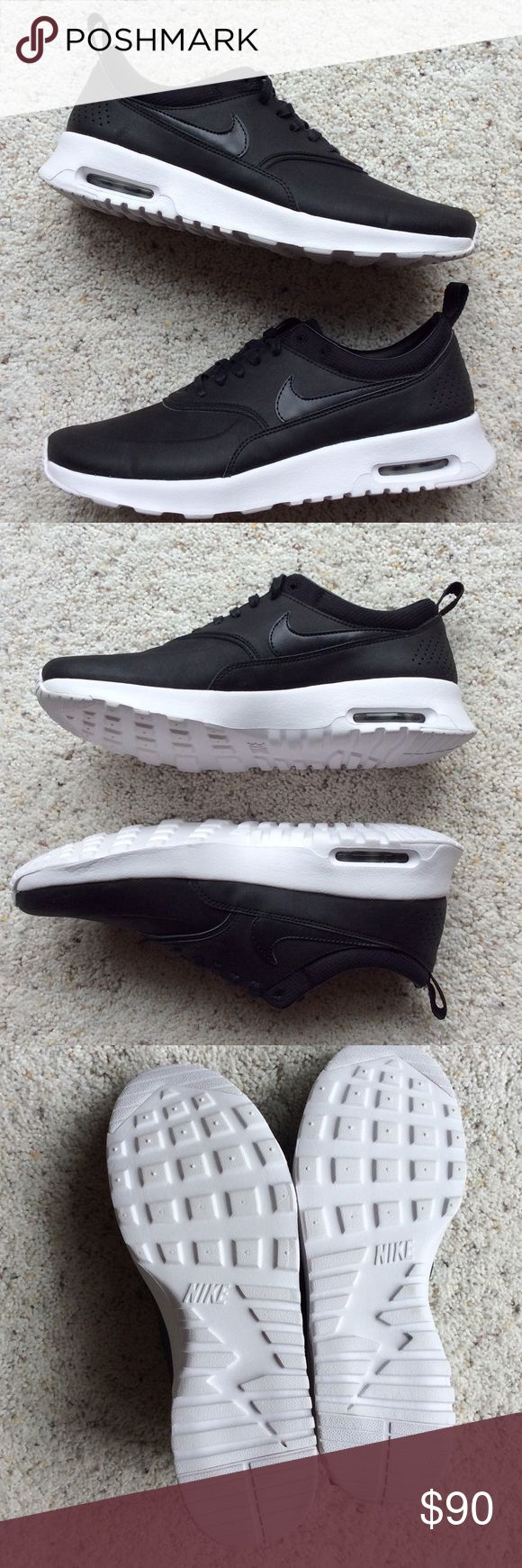 Nike Air Max Thea Premium Leather Black, anthracite premium Air Max Theas. Worn indoors for about an hour for an event. No original box but will ship in a box. I do not trade or give prices in the comments. Nike Shoes Sneakers