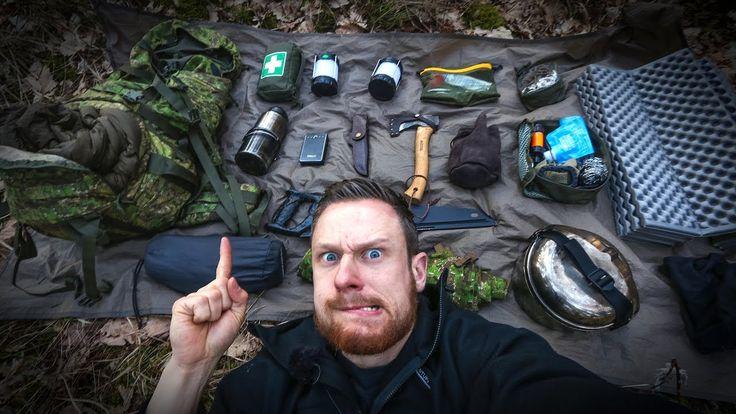 BUSHCRAFT SURVIVAL: Backpack Loadout Gear for Overnighter | Fritz Meinecke - YouTube