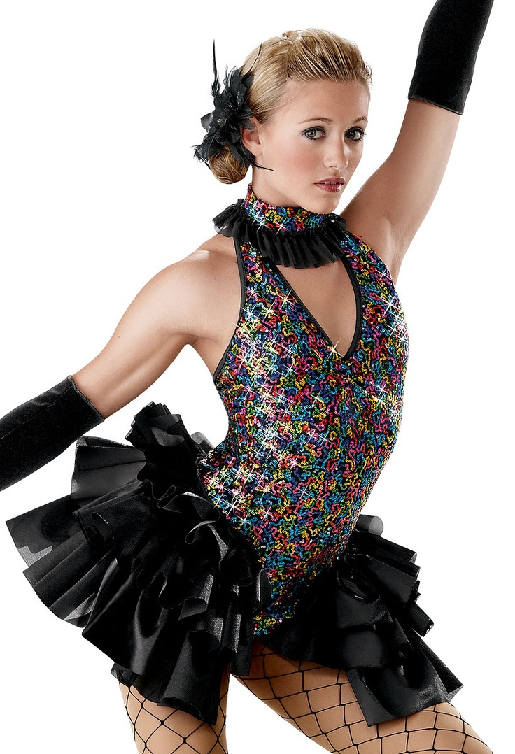 Sequin Halter with Satin Bustle; Weissman Costumes · Jazz DanceDance WearDance  MomsJazz