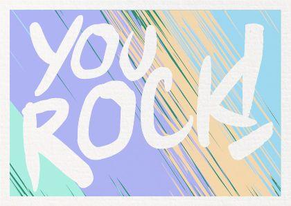 You Rock! | Mint & Mail | Moments Love Paper. Webshop voor alle momenten op papier. Wenskaarten | Trouwkaarten | Geboortekaartjes & Papierwaren.