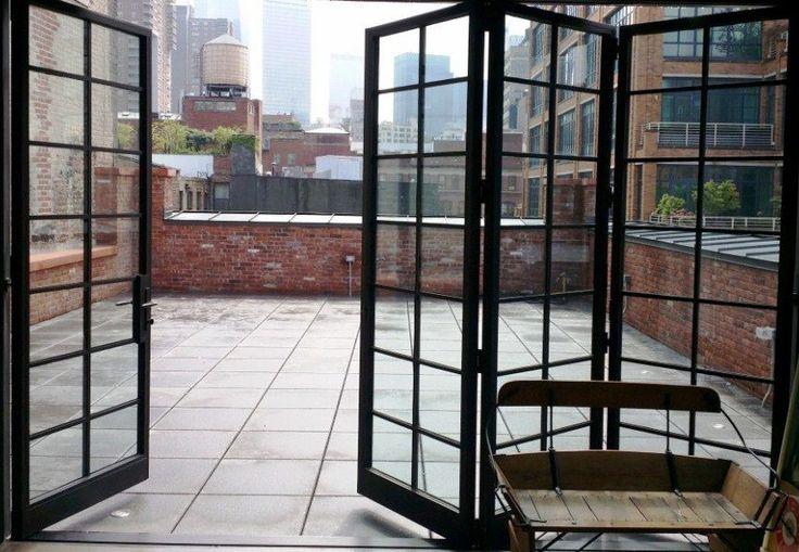 25 model desain pintu besi minimalis modern lipat
