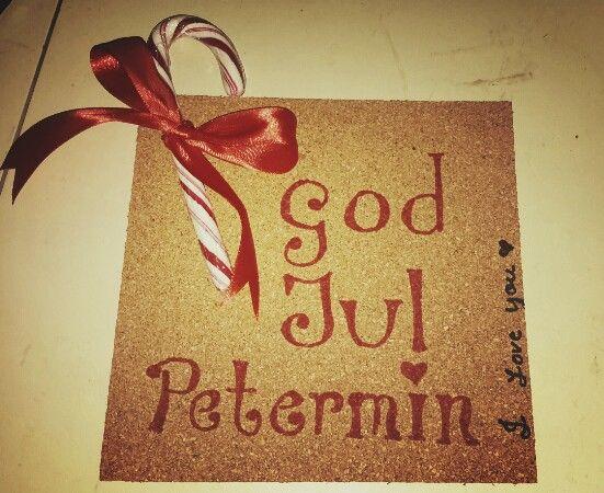 God jul card for min petermin, DIY christmas card 2015