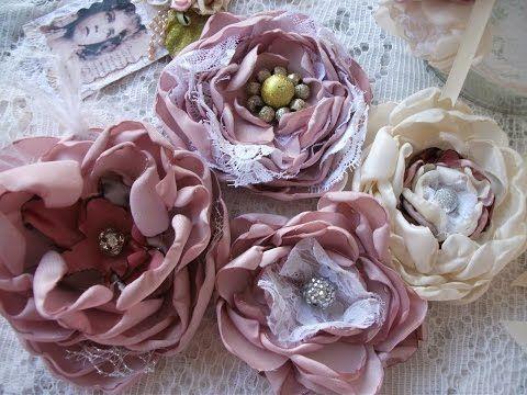 DIY: Faça você mesma flores vintage ♥ - YouTube