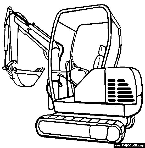 free trucks coloring pages color in this picture of an excavator and others with our library of online coloring pages save them send them