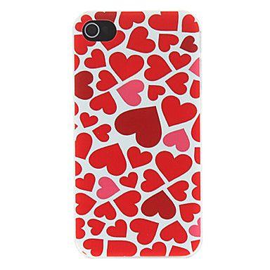 Multiply Hearts Embossed Pattern Matte Designed PC Hard Case for iPhone 4/4S – BRL R$ 7,92