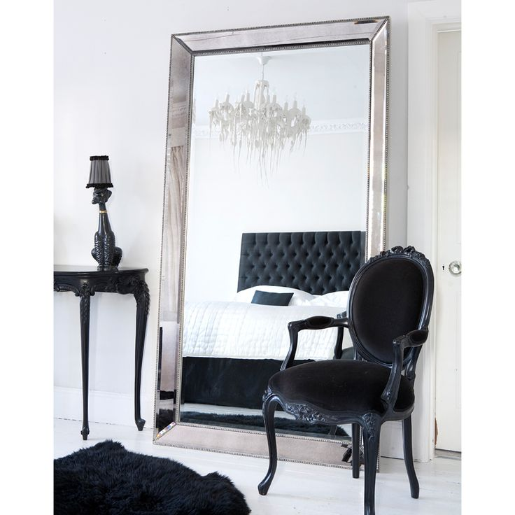 Strictly Studded Floor Mirror