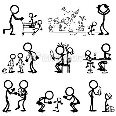 Stickfigure Family Life Royalty Free Stock Vector Art Illustration